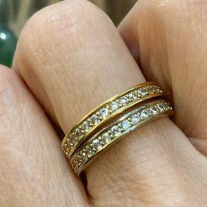 Wedding Yellow Gold Diamond Simulated  WeddingBand